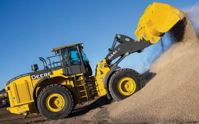 John Deere 844K Wheel Loader and 744 Wheel Loader